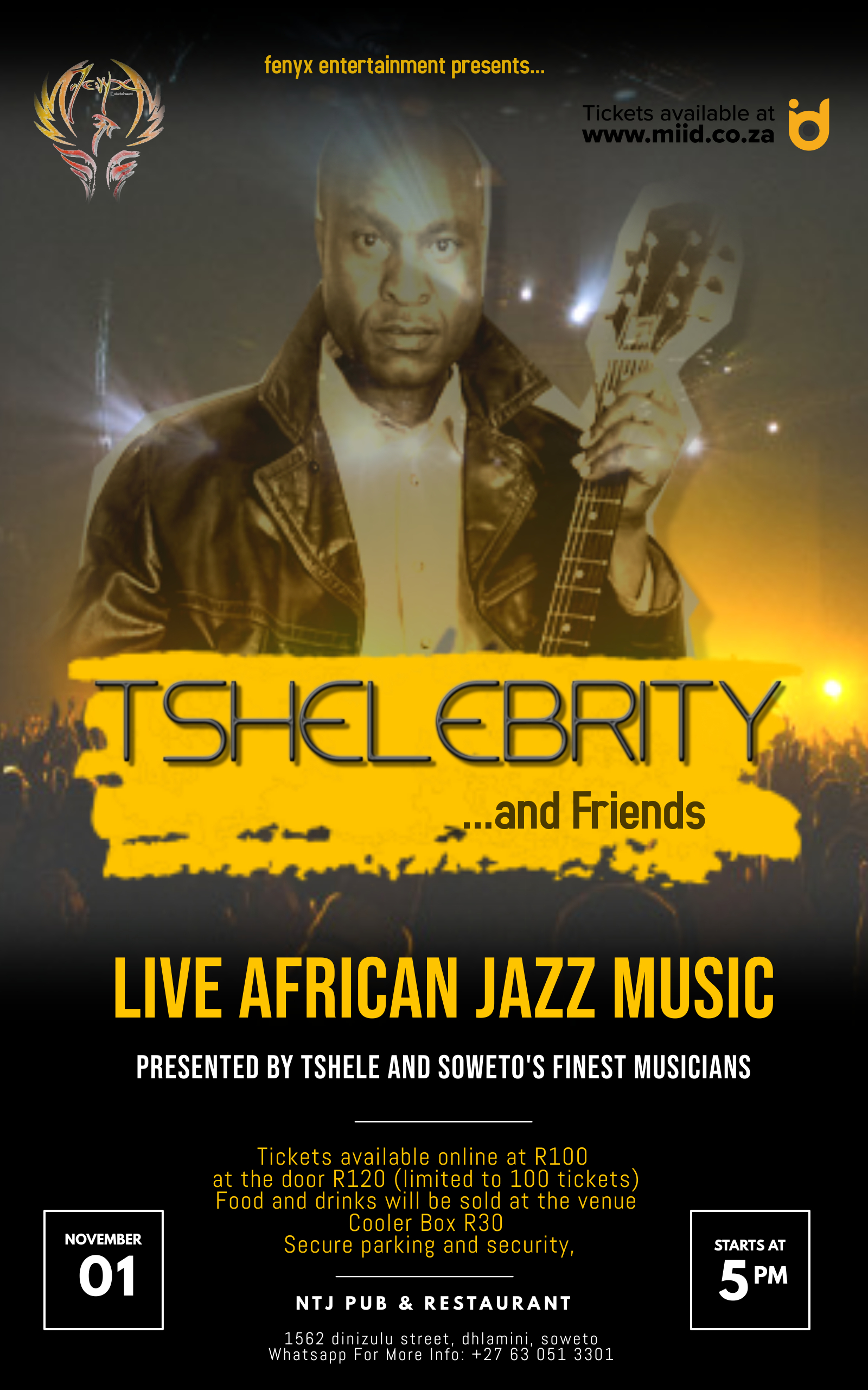 Tshelebrity And Friends Live Sessions  Banner